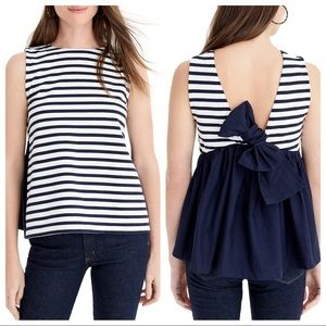 J. Crew Bow Back Top